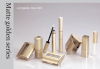 Matte golden clear plastic square tube complete makeup kit empty plastic tubes