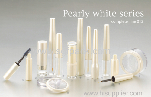 Pearly white makeup plastic cosmetic tube series