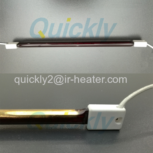 Shortwave quartz twin tube infrared heater