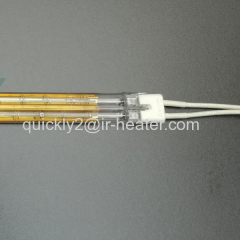 Quartz twin tube infrared heating element