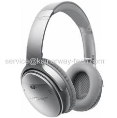 Silver Bose QuietComfort 35 Wireless Bluetooth QC35 Around-Ear Headphones With Noise Rejecting Dual Microphone System