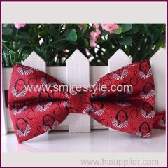 2017 High Quality Create your Own Brand Pure Silk Fabric Business bow Ties for Men
