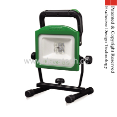 Rechargeable Portable LED Work Light Vari-focus Lens Detachable Battery