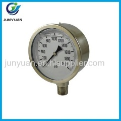 CE Certificate Glycerin Promotional Water Well Pressure Gauge