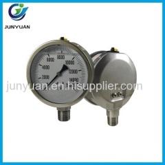 """2.5"""" Stainless steel biogas pressure gauge"""