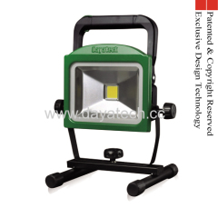 Rechargeable Portable LED Work Light 30W 3 Hours Working Detachable Battery