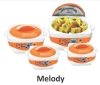 PLASTIC HOT POT CASSEROLES 4 PCS SET / PLASTIC CASSEROLES HOTPOT 3 PCS SET / PLASTIC FOOD FLASK/ 2 PCS SET