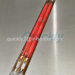 Quickly twin tube carbon fiber heater