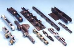 Different color rack and pinion small gears floor guide sliding door for cantilever gate system