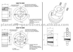 SPC355-8/4040 8 Groove 355mm Pitch Diameter SPC V-Belt Pulley for Taper Bush 4040
