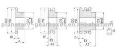 hub sprocket Z=57.04B1 simplex 6 mm.Pilot bore