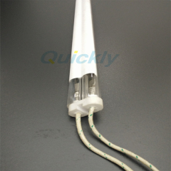 double quartz tube medium wave ir lamps