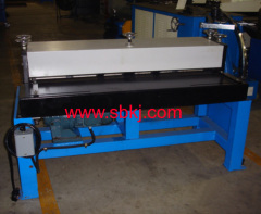 HVAC duct steel sheet grooving machine
