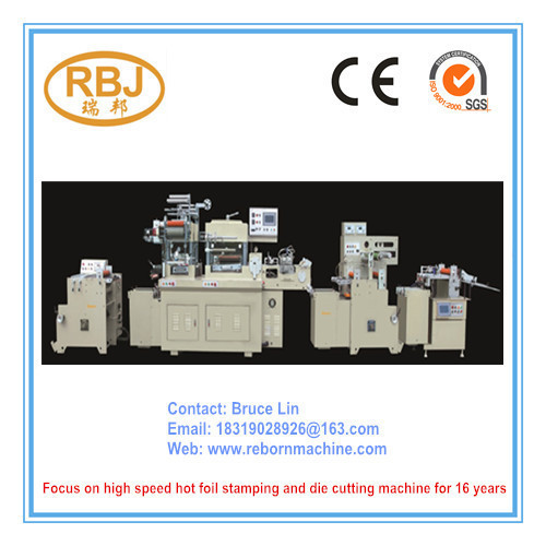 RBJ-370B Hot Stamping Foil and Die Cutting Machine with High Speed Sheeter