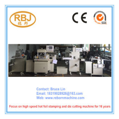 Label Die Cutter Machine with Hot Stamping and Sheeting Function