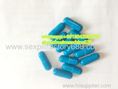 good quality light blue capsules male pill sex products with brown powder