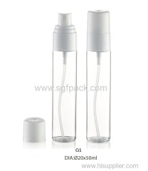 40ml 50ml transparent PETG bottle with sprayer