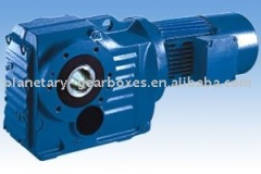S Series Helical Worm Gear Reducer Jzq Hypoid Speed Reducer For Machine