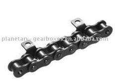 Роликовые цепи с изогнутыми вставками DIN 8187-K1 = Тонкая версия 4 x p Односторонняя
