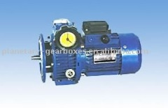Worm Stepless Variable Speed Gear box transmission parts with Electric Motor