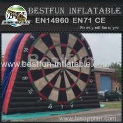 inflatable footaball darts game foot dart board