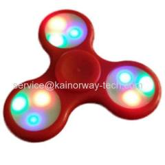 Wholesale LED Awesome Flashing LED Tri-Wing Fidget Spinner Toys Finger Gyro EDC ADHD Focus Funny Anti Stress Toys