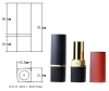 cosmetics packing: Lipstick Tubes blush case mascara tube highlight pen brushes