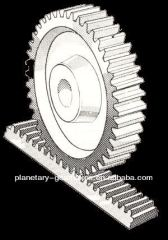 Harden teeth rack and pinion