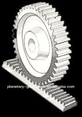 Steel display shelves/rack and pinion gears