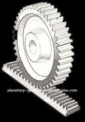 Attuatore rotativo pneumatico QGK con rack e pignone per ingranaggi / cilindro aria rotante
