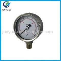 "1.5"" costomize stainless steel case bourdon tube pressure gauge"