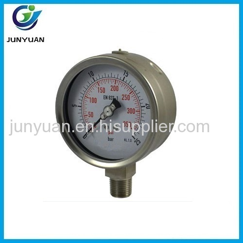 Good quality shock-proof Pressure gauge Lower mount connection with back flange