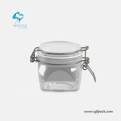 Food seal pot transparent PET airtight canister