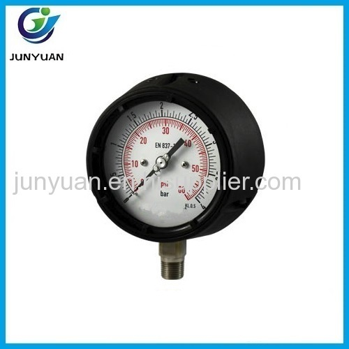 Wholesale shock-proof Pressure gauge Center back mount connection with back flange
