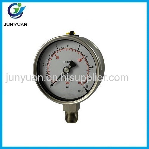 full stainless steel contruction high pressure manometer
