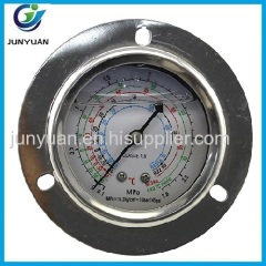 hot selling high level new design delicated appearance diaphragm sealed pressure gauge with flanges