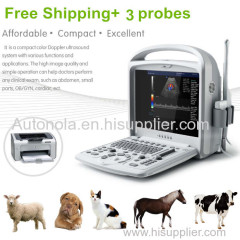 Portable animal color doppler