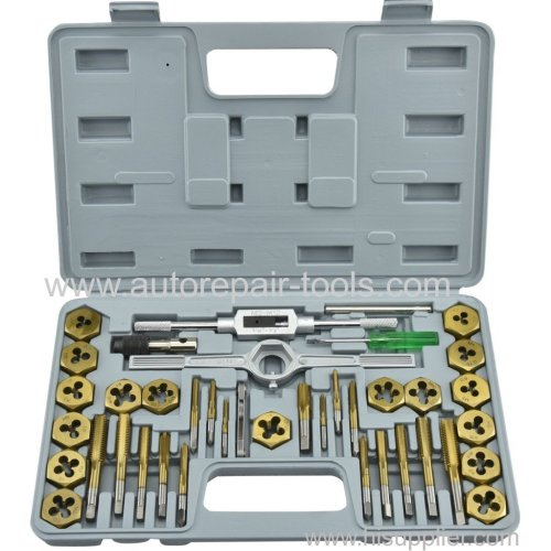 40 pcs Tap Die and Drill SAE Set