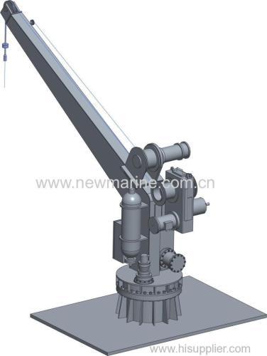 Single arm hydraulic slewing davit