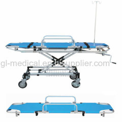 Hospital Emergency Bed With PVC bed surface