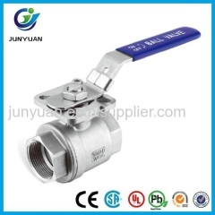2PCS Stainless Steel Ball valve with ISO5211 mounting pad