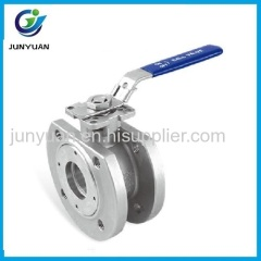 Wafer flanged ball valve with ISO5211 moungting pad