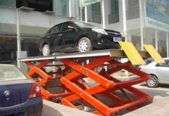 Double scissor type hydraulic car lift