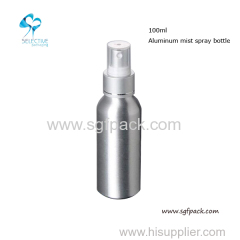 100 ml silver aluminum pump lotion bottle
