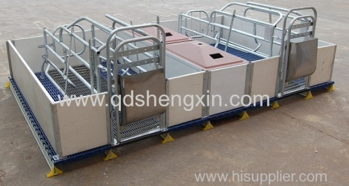 New designed Double Farrowing Crate with PVC fence