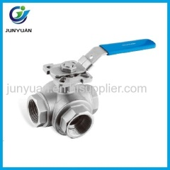 3WAY CONNECTION BALL VALVE WITH ISO5211 MOUNTING PAD