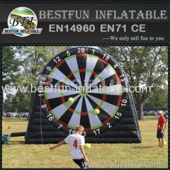 giant inflatable soccer foot dart board