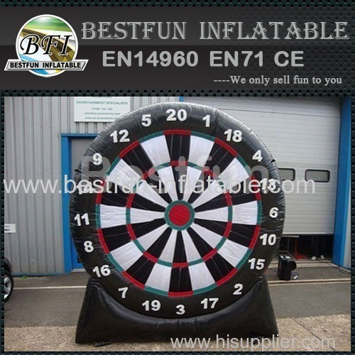 Round inflatable soccer dartboard