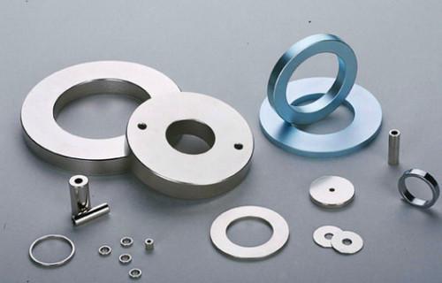 Nickel coated Neodymium industrial magnet big ring
