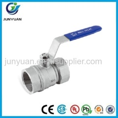 2PC REDUCE PORT STAINLESS STEEL BALL VALVE 800PSI